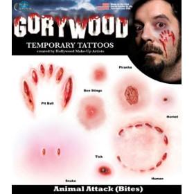 Tatouages temporaires Horreur Attaque Animal