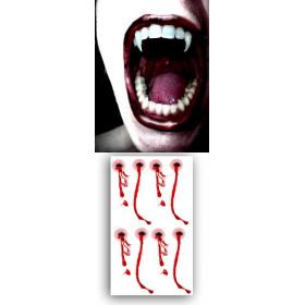 Tatouages temporaires dents Vampires