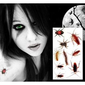 Horreur Tatatouages temporaires Insectes