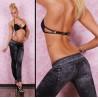 Leggings moulant pour femme imitation Jeans Black metal marque Tarawa