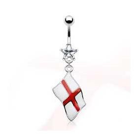 Piercing nombril pendentif drapeau pay Anglais