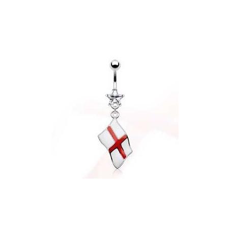 Piercing nombril pendentif drapeau Angleterre