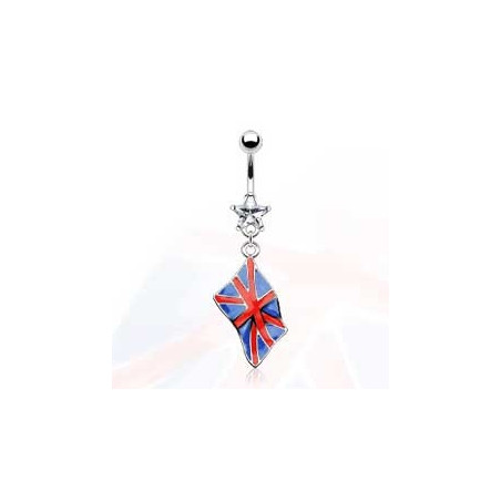 Piercing nombril pendentif royaume unis