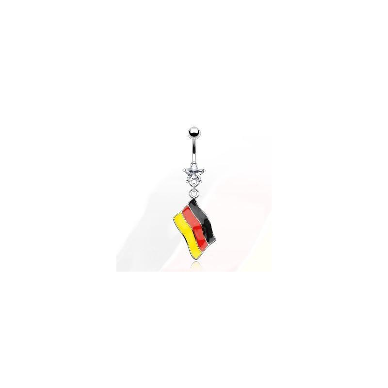 Piercing nombril pendentif drapeau de l'Allemagne