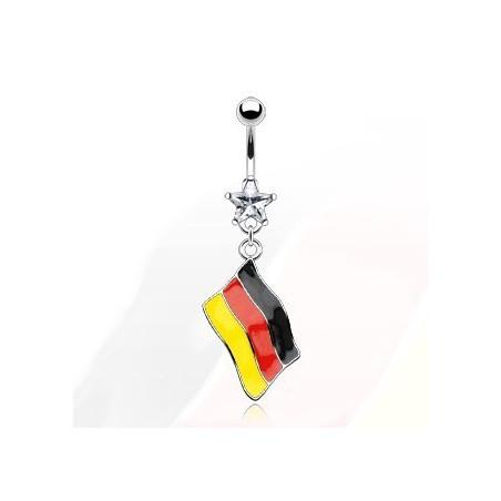 Piercing nombril drapeau Allemand
