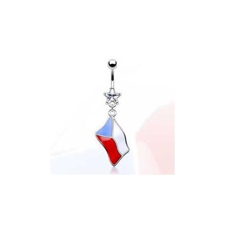 Piercing nombril drapeau République Tchèque