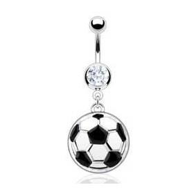 Piercin nombril pendentif ballon de foot