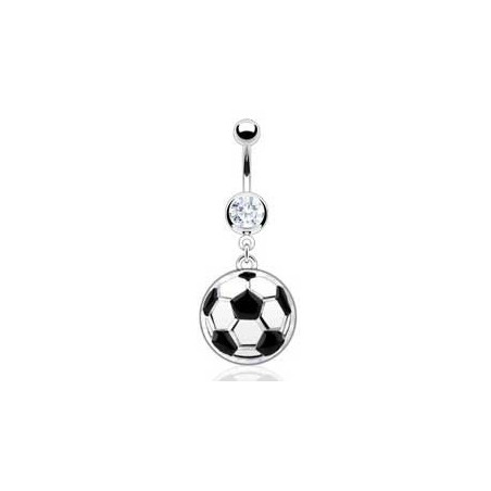 Piercing nombril pendentif ballon de foot