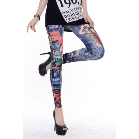 Leggings tattoo art effet jeans rock pour femme marque Tarawa