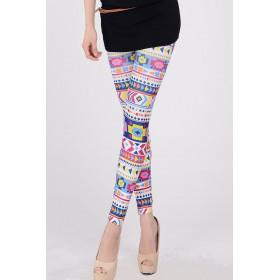 Leggings imprimé motif indien coloré pour femme pas cher
