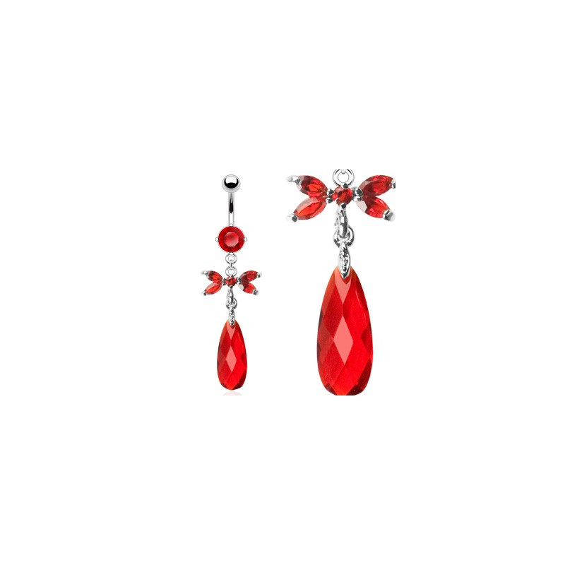 Piercing nombril marquise papillon rouge tarawa piercing - Marquise pas cher ...