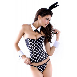 Costume Lapin sexy corset 5 pièces