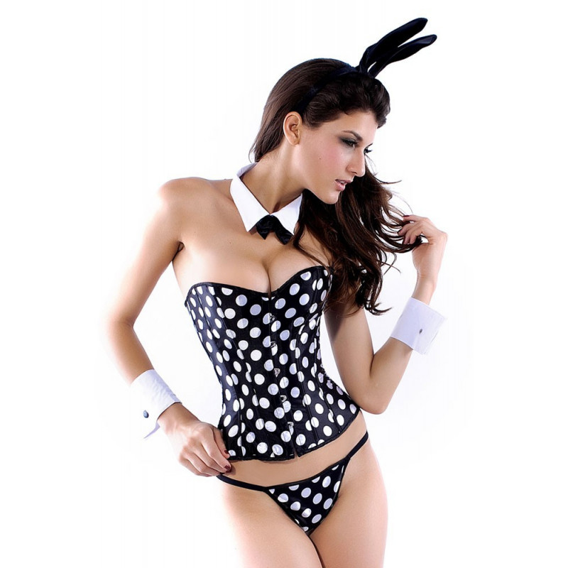 Costume femme Lapin sexy corset 5 pièces