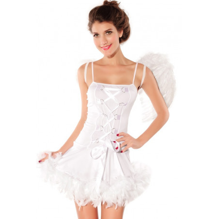 Costume femme Ange Blanc Sexy pour adulte