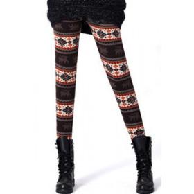 Leggings pour femme motif flocon de neige hiver Noël couleur Caffé marque Tarawa