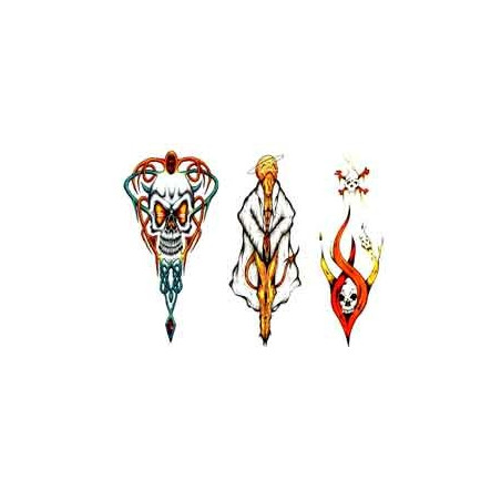 Tattoos temporaires Tete de mort