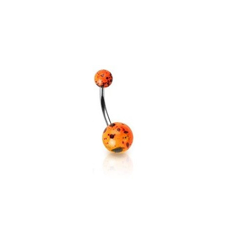 Piercing nombril orange Fluo splash