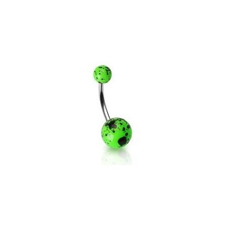 Piercing nombril vert Fluo splash