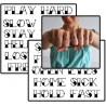 Tatouages lettres mains