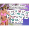 Tatouages Pack Temporaires Papillons