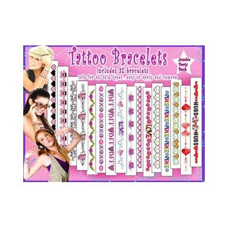 Tatouages Pack autocollants Bracelets