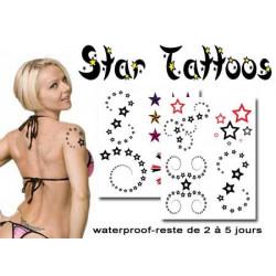 Tatouages Temporaires Soleil Lune Etoile Vente Faux Tattoo Pas Cher
