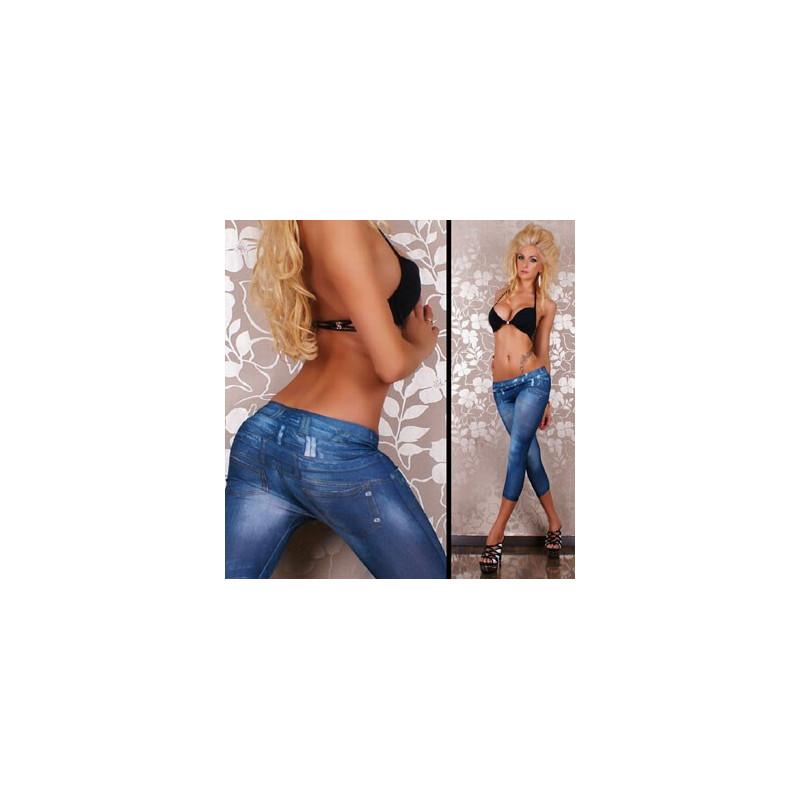 Leggings pour femme imitation Jeans jambes courtes