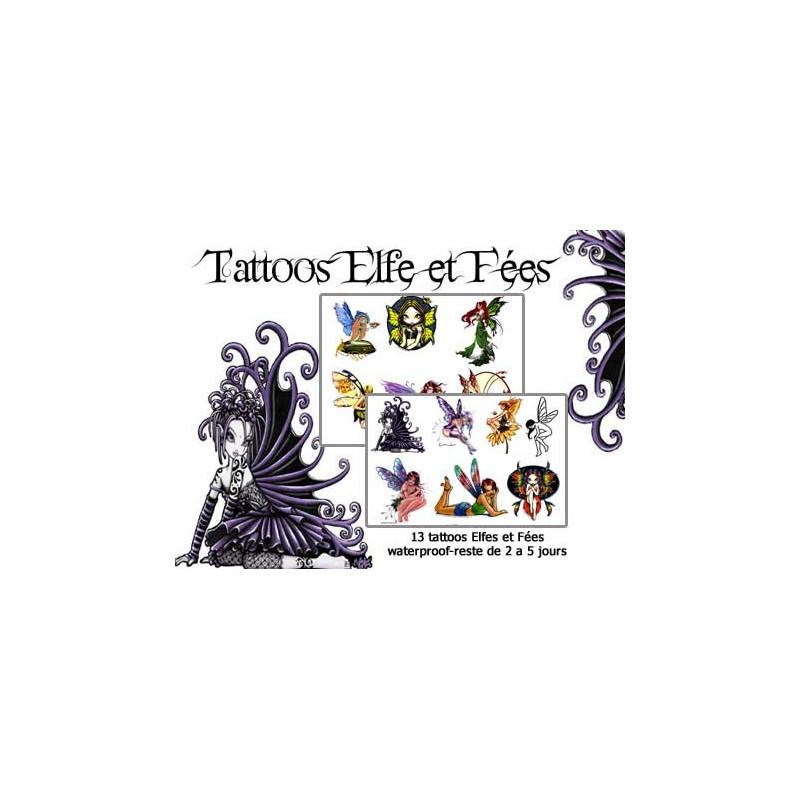 Tattoos autocollants Elfes et Fées