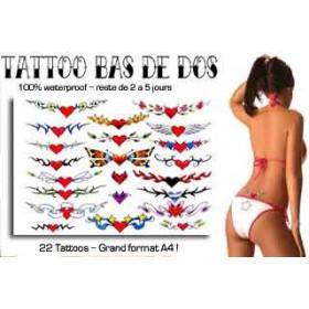 Tattoos autocollants bas de dos Coeur