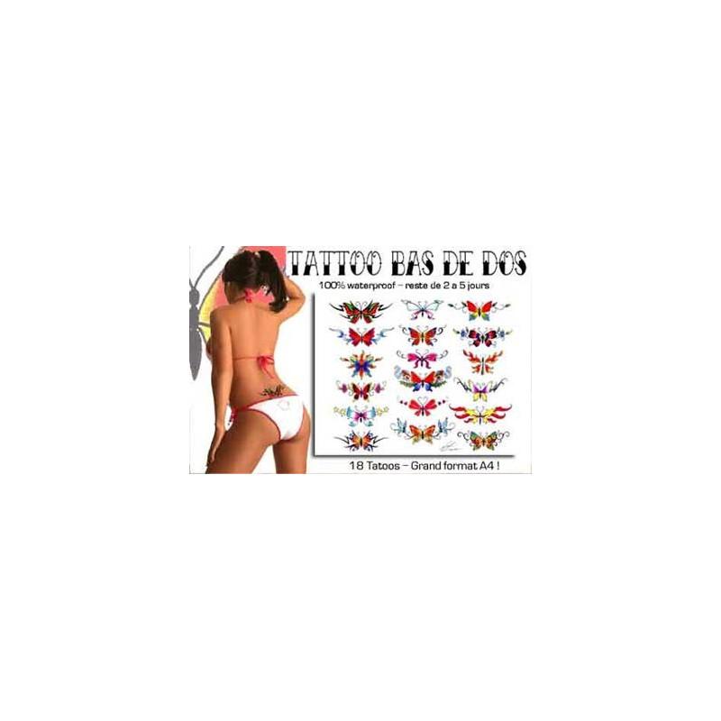 Tattoos autocollants bas de dos Papillon