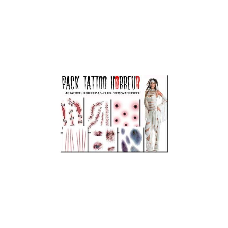 Tattoos autocollants FX Horreur