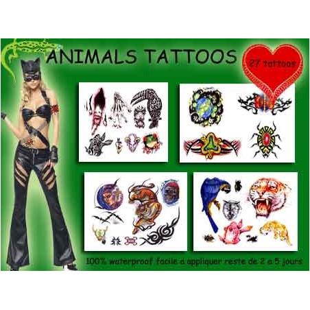 Tattoos autocollants Animaux