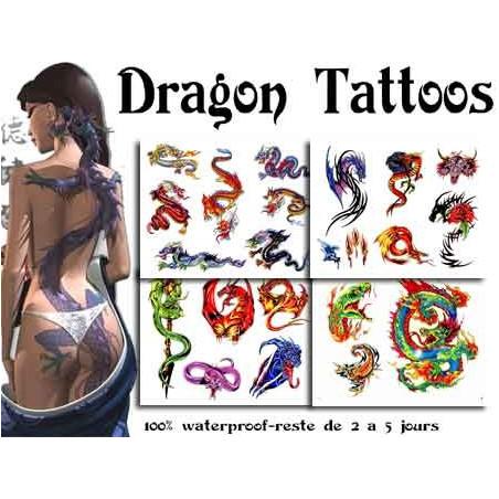 Tattoos autocollants Dragons