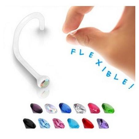 Piercing nez bioflex cristal 2 mm