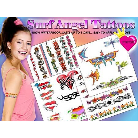Pack tatouage Surf Angel