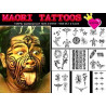 Pack tatouage polynesiens et Maori autocollant