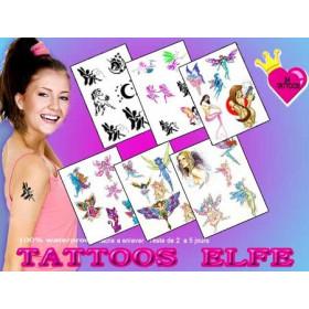 Pack tatouage Elfe et Fée autocollant