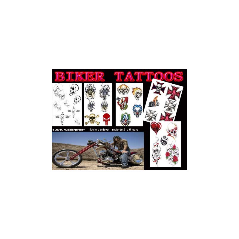 Pack tatouage Biker