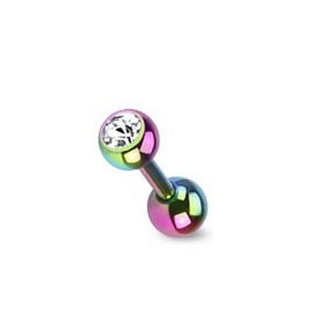 piercing oreille cristal titane anodisé couleur essence