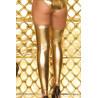 Bas sexy pour femme couleur métallique doré