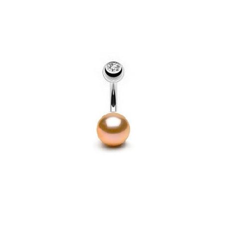 Piercing nombril perle ronde couleur rose 7mm
