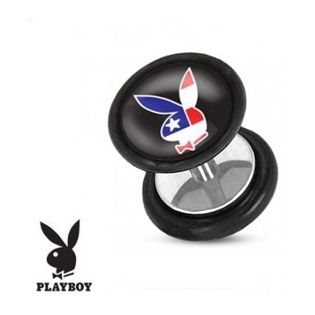 Faux piercing plug playboy USA