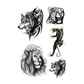 Tattoo Loup tigre lion panthere