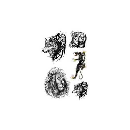 Tattoo Loup tigre lion panthere