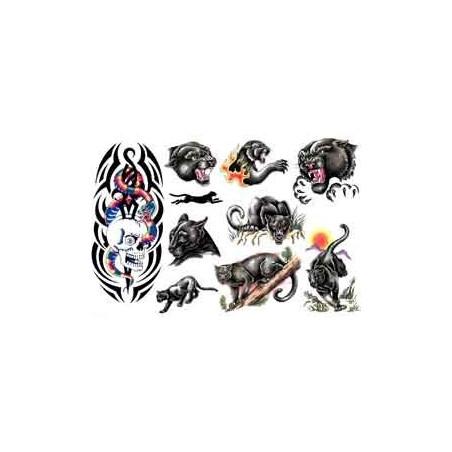 Tatouages autocollants Panthere noire