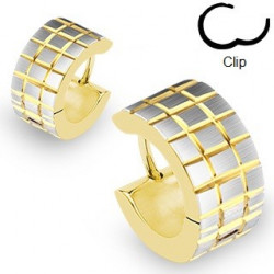 Boucles d'oreilles anneaux large doré pour homme