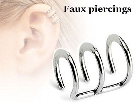 Faux piercings