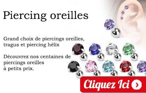 piercing tragus hélix oreille